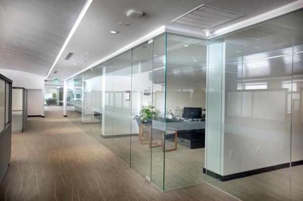 interior glass facade
