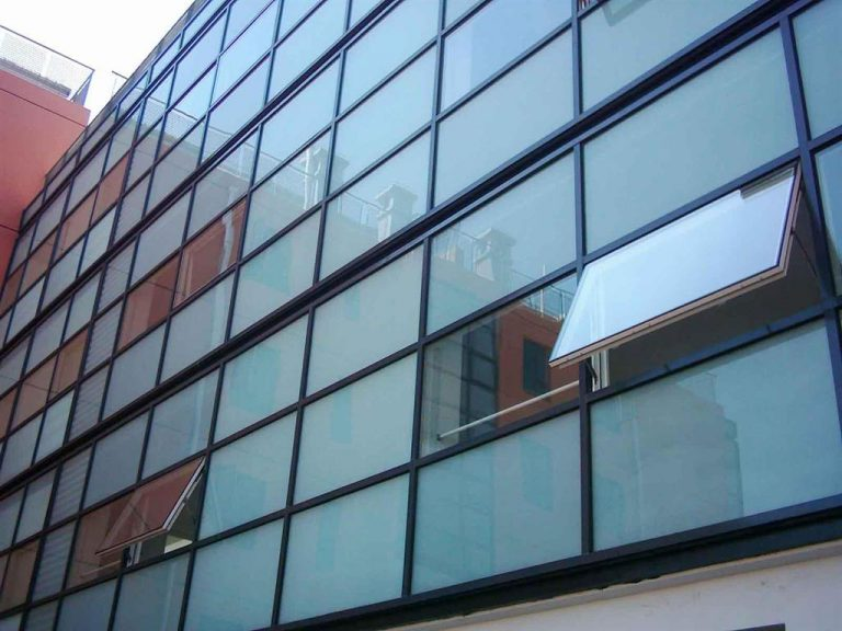 double glazed curtain wall