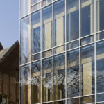 frame less glass facade