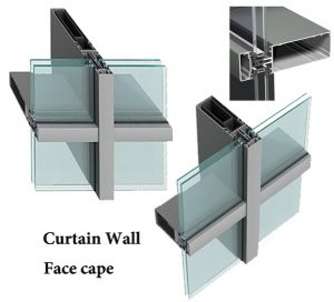 curtain wall face cap