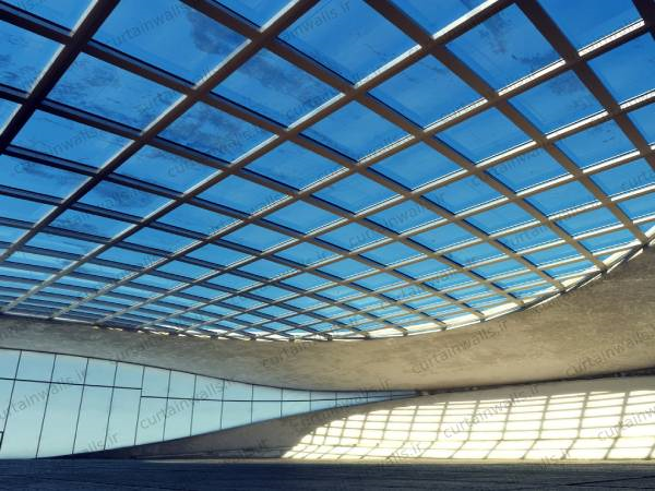 Price of curtain walls glass ceiling
