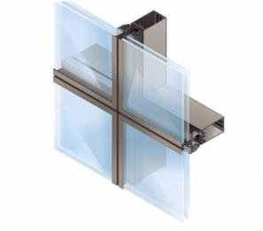U-shaped spacers that come together like puzzles in u channel frame-less glass