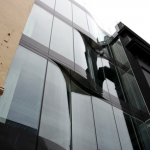 framless glass facade