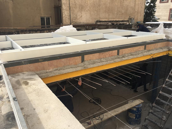 skylight glass roof production