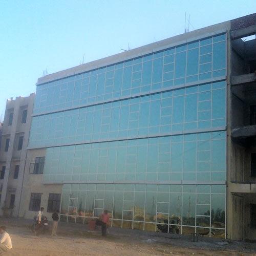 frameless aluminum facade