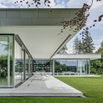 aluminume fram of glass facade